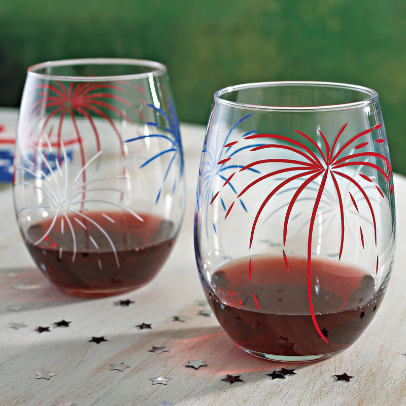 Wine Enthusiast Fireworks 'U' Glasses