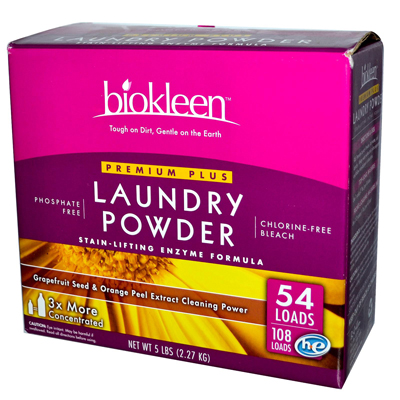 Biokleen Laundry Powder Premium Plus Stain Lifting Enzyme Formula 5 Lbs Pack Of 8 image