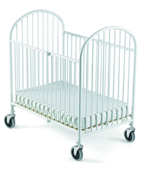 Pinnacle steel folding crib with 4 foam mattress compac for Double decker crib