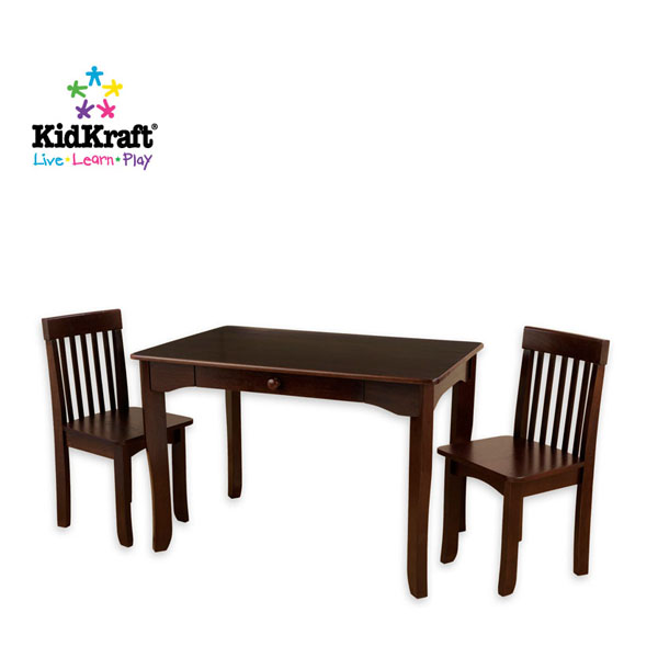 Kidkraft Avalon Table Amp Chair Set Espresso 26651