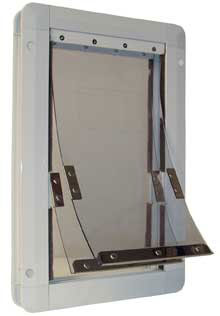 Perfect Ideal Insulator Dual Flap Pet Door White Super Large DFSL