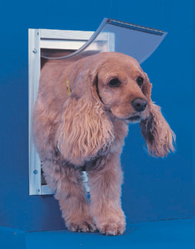 Ideal Pet Door Deluxe White Dog Door Medium