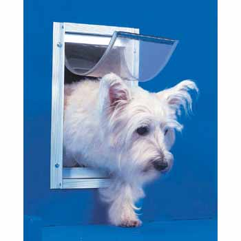 Ideal Pet Door Deluxe White Dog Door Small