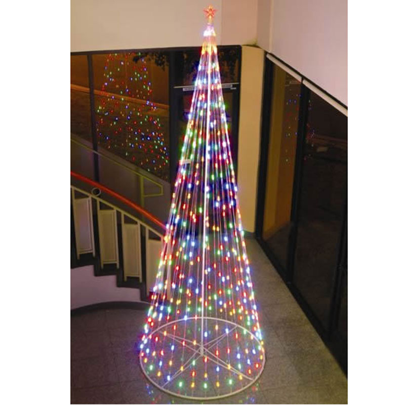 homebrite 15 ft prelit christmas tree led outdoor 61391 multi color