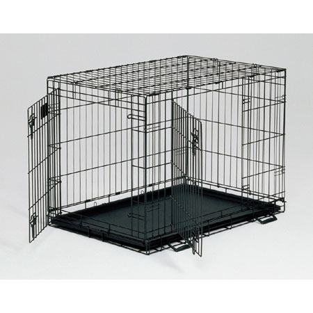 Life Stages Double Door Dog Crate 30L X 21W X 24H