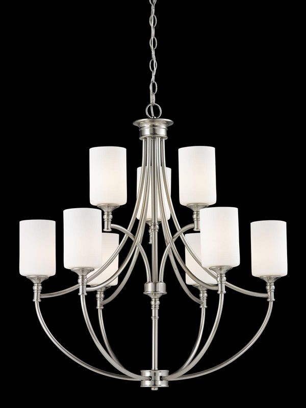 Z Lite Cannondale Collection Brushed NickelMatte Opal Light Chandelier 143 9854