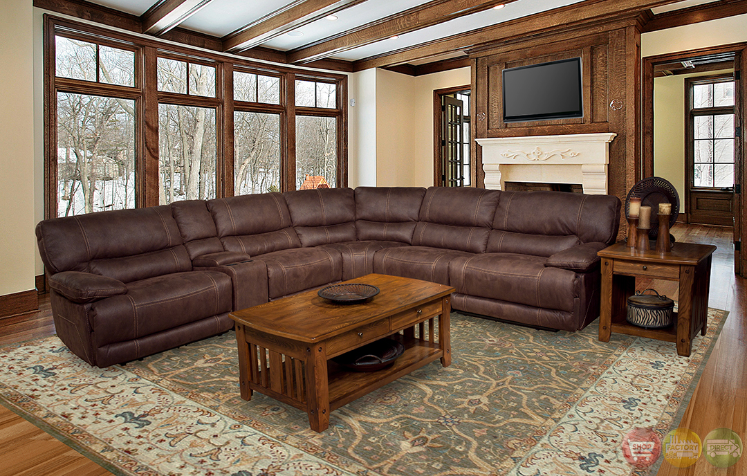Parker Living Pegasus 6 Piece Brown Power Reclining ...