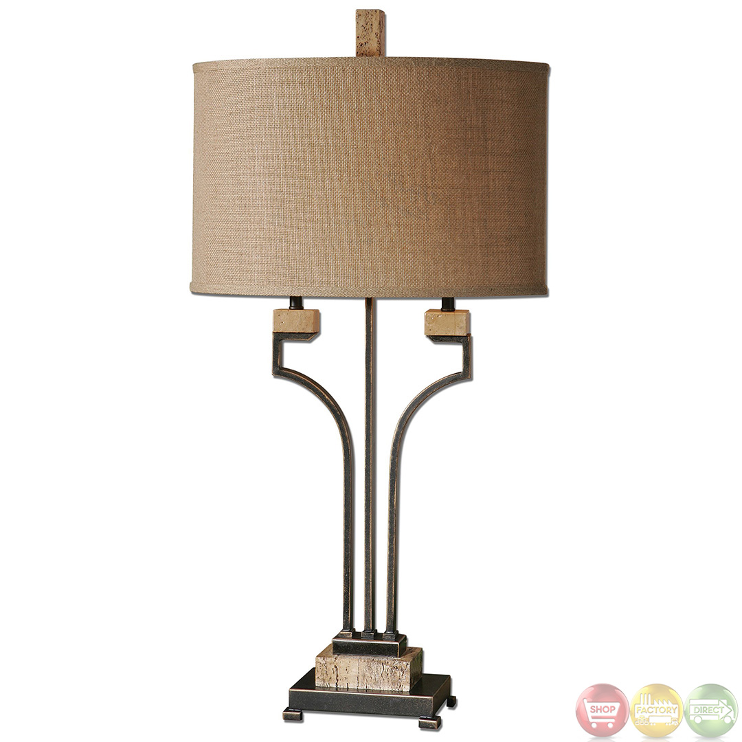 Larimer Rustic Bronze Gold Finish Table Lamp 26295 1 Ebay