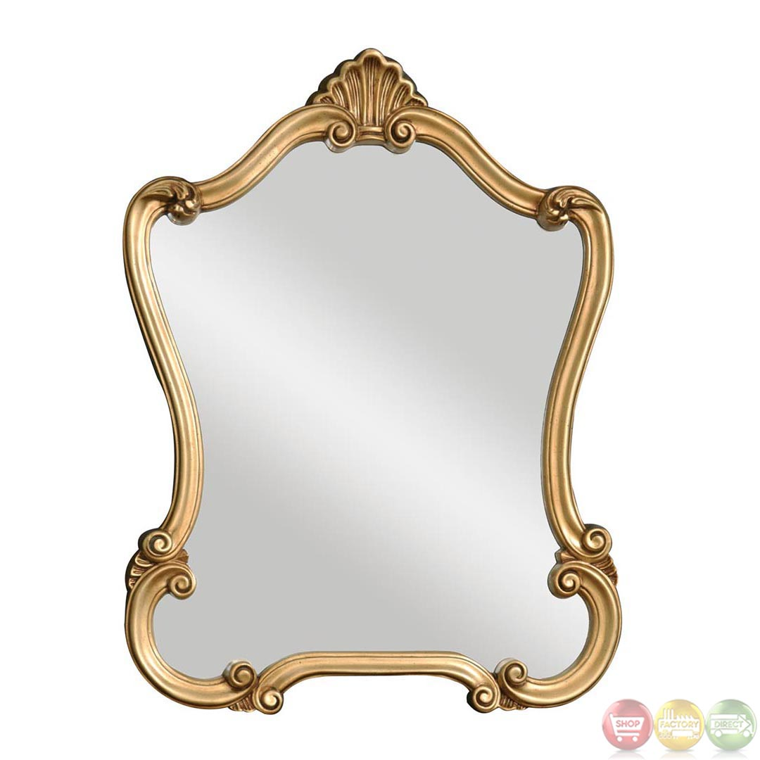 Walton hall traditional lightly distressed gold leaf for Looking mirror