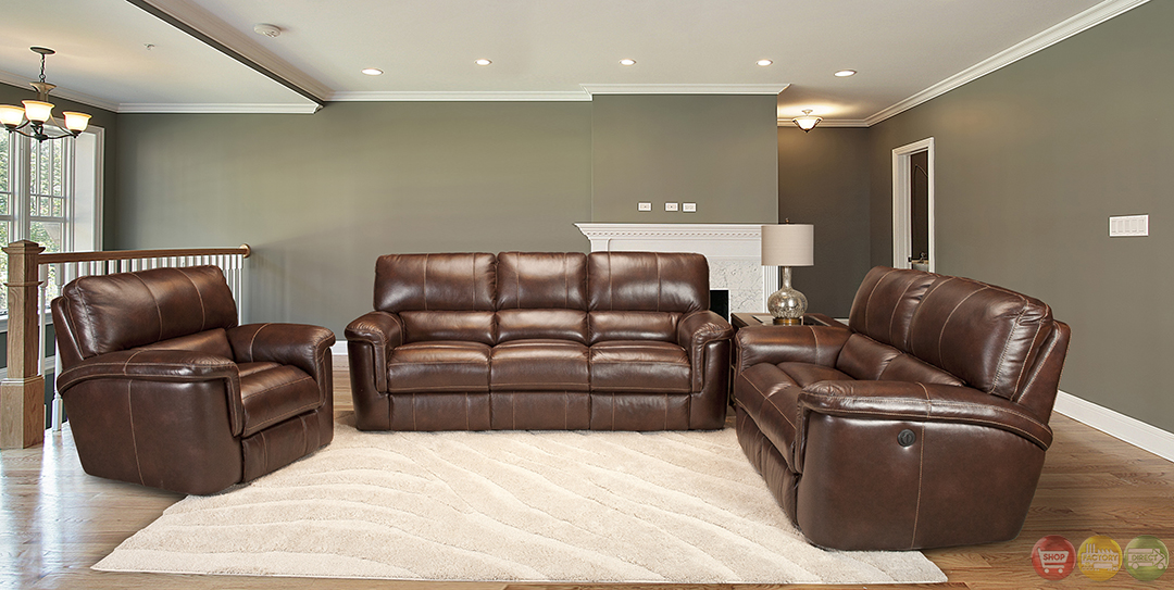 Wondrous Details About Parker Living Hitchcock Cigar Brown Real Leather Casual Power Reclining Sofa Set Squirreltailoven Fun Painted Chair Ideas Images Squirreltailovenorg